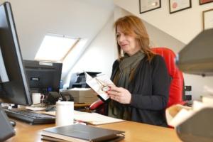 Carol in office